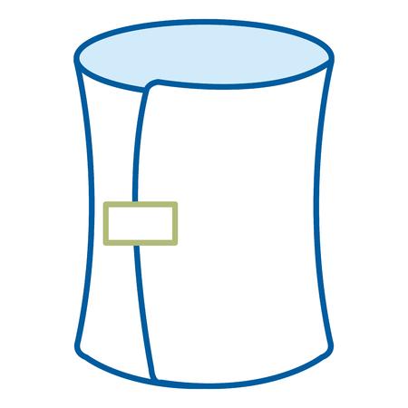 의료 붕대 고립 된 아이콘 벡터 일러스트 레이 션 디자인