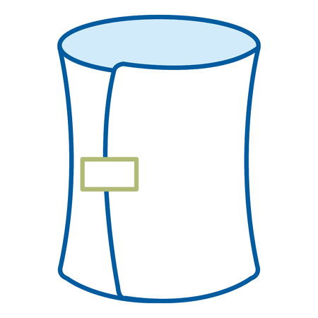 Medical bandage isolated icon vector illustration design
