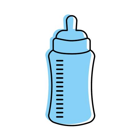 Baby Shower Bottle Milk Little Decorative Vector Illustration Delectable Decorative Plastic Bottles For Shower