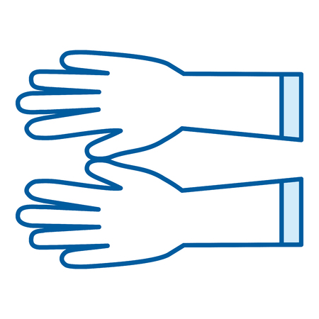 surgical glove: surgical golves rubber icon vector illustration design Illustration