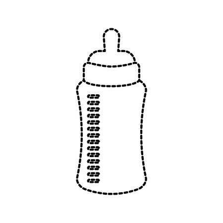 baby shower bottle milk little decorative vector illustration Illustration