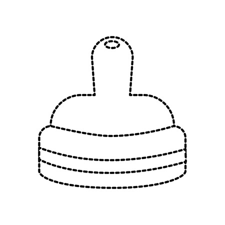 nipple of baby bottle milk accessory vector illustration