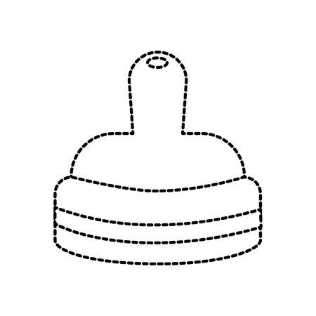 nipple of baby bottle milk accessory vector illustration