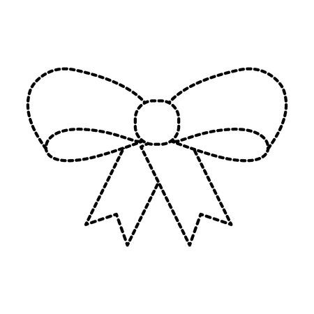 lint boog meisje decoratie ornament pictogram vector illustratie