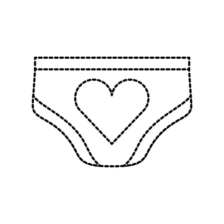 baby shower girl panties clothes cute decoration vector illustration
