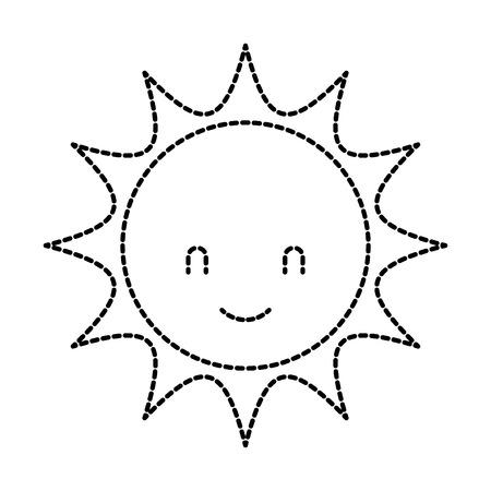 귀여운 만화 태양 베이비 샤워