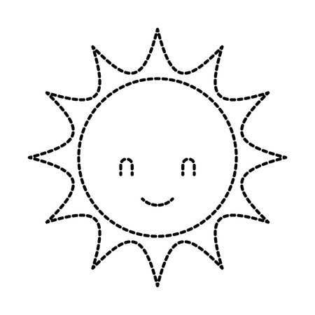 Cute cartoon sun baby shower Illusztráció