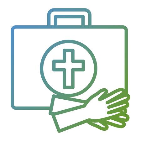 Medical kit with gloves Illustration