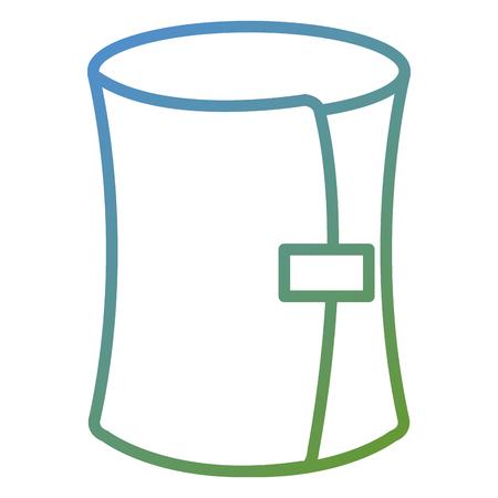 医学の包帯は孤立したアイコンのベクトルのイラストの設計