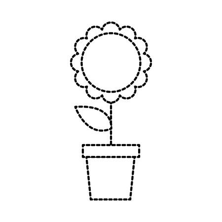 Potted flower nature decoration Illustration
