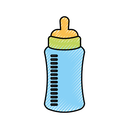 Baby shower bottle milk.