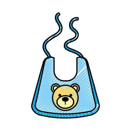 赤ちゃん男の子シャワーよだれかけアクセサリーのデザイン。  イラスト・ベクター素材