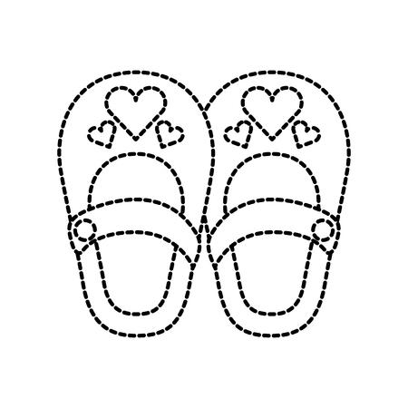 Leuke meisjesschoenen Stock Illustratie