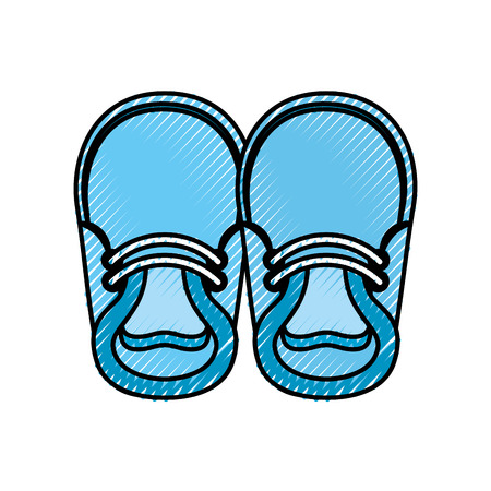 baby booties for boy child cute image vector illustration