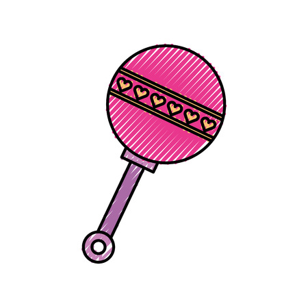 baby shower rattle toy gift icon vector illustration