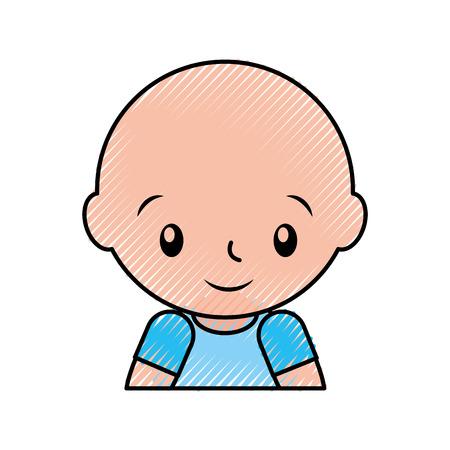 baby shower boy childhood celebration image vector illustration Ilustração