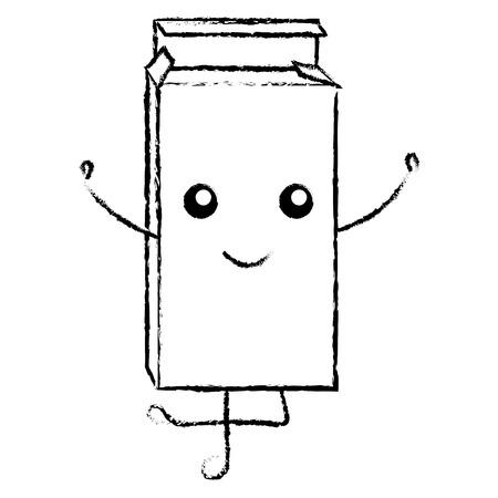 drugs box kawaii character vector illustration design