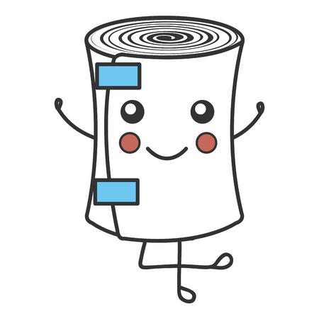 medical bandage kawaii character vector illustration design