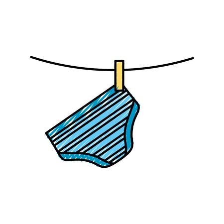 Baby shower boy pants shorts hanging decoration. Illustration