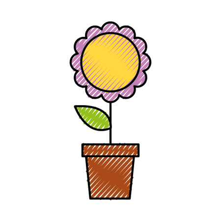 Potted flower nature decoration ornament.