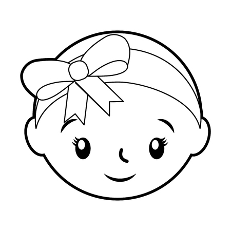 happy and smiling baby girl adorable vector illustration 版權商用圖片 - 85480642