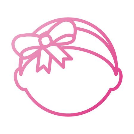 ベビーシャワー女の子愛らしい diadem ボウベクトルイラスト