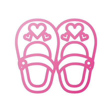 schattig meisje schoenen baby shower decoratie viering
