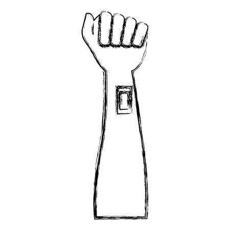 arm mens met cureband donatie vector illustratie ontwerp Stock Illustratie