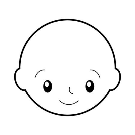 baby shower boy childhood celebration image vector illustration Illustration