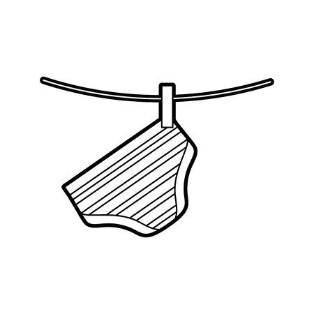 baby shower boy pants shorts hanging decoration image vector illustration