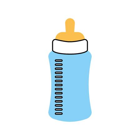 baby douche fles melk kleine decoratieve vector illustratie