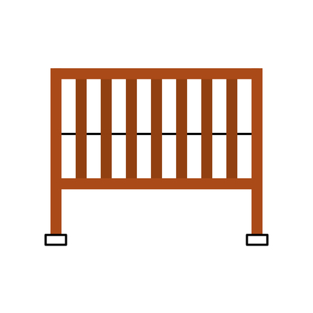 cot baby shower furniture infant symbol vector illustration