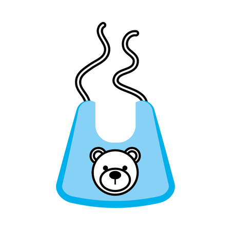 Baby boy shower bib accessory design.