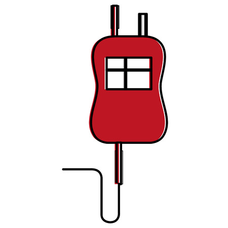 bag blood donation icon vector illustration design