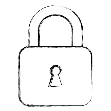 Safe padlock isolated icon