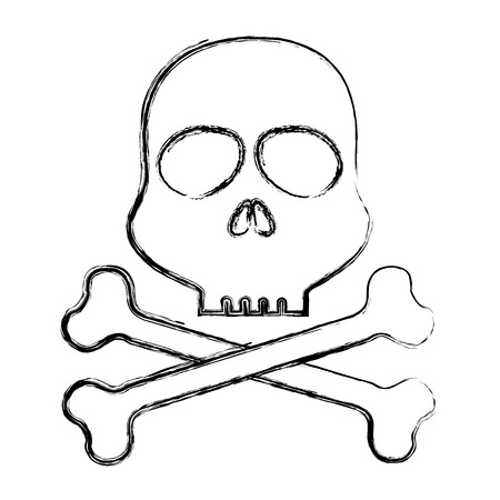 skull alert symbol icon vector illustration design Ilustrace