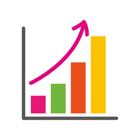 croissance des affaires bar graphique