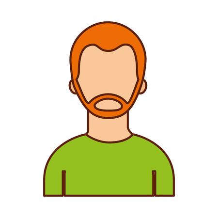 portrait man character male person image vector illustration