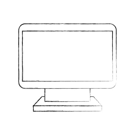 computer monitor device wireless technology icon vector illustration 向量圖像
