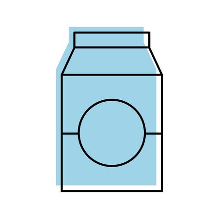 Lait ou jus de jus de carton avec boire illustration vectorielle Banque d'images - 85494285