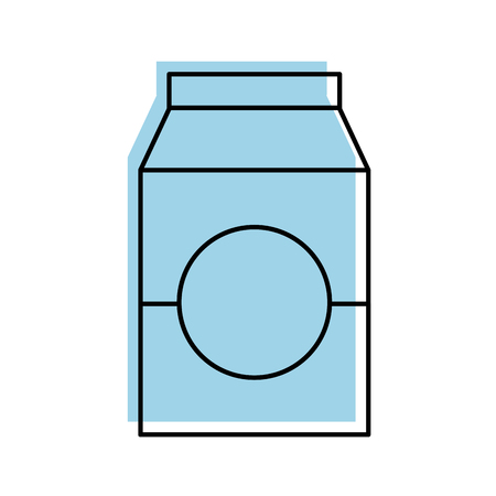 milk or juice box carton with drinking vector illustration 向量圖像