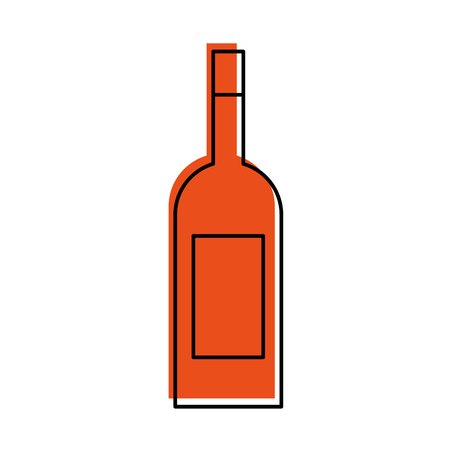 wine bottle drink beverage market product vector illustration 向量圖像