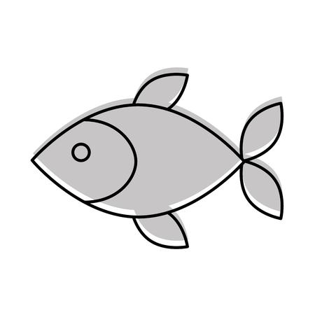 Fisch Shop Store Markt mit Frische Meeresfrüchte Mahlzeit Vektor-Illustration Standard-Bild - 85494289