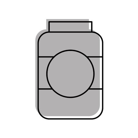 bottle sausage market condiment ingredient icon vector illustration