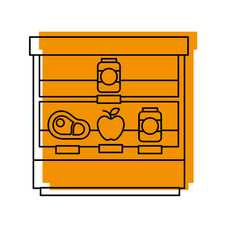 supermarket shop showcase fridge shopping vector illustration Ilustracja
