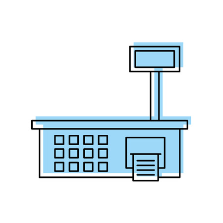weight scale measure supermarket equipment vector illustration