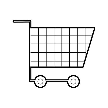 cart shopping empty supermarket instrument object commerce vector illustration