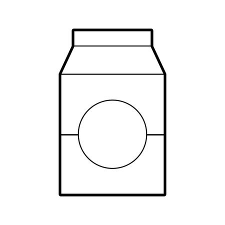 Lait ou jus de jus de carton avec boire illustration vectorielle Banque d'images - 85494433