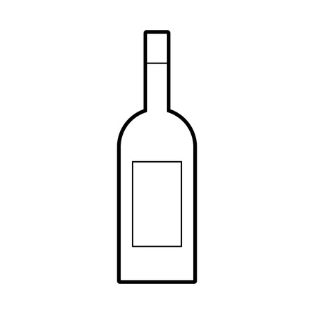 wine bottle drink beverage market product vector illustration Illustration