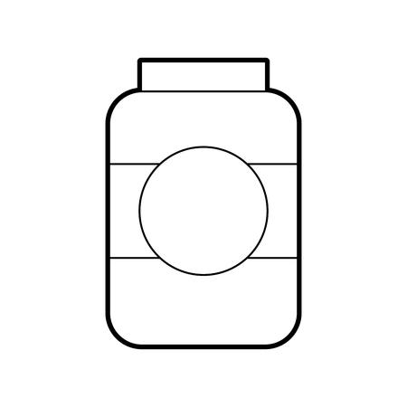 ボトルソーセージ市場調味料成分アイコンベクトルイラスト